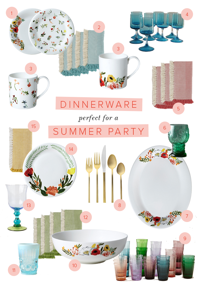 summer party tabletop