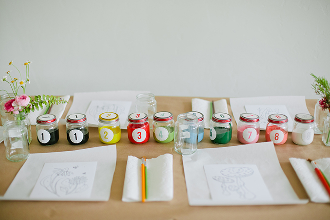 PAINT BY NUMBERS BABY SHOWER