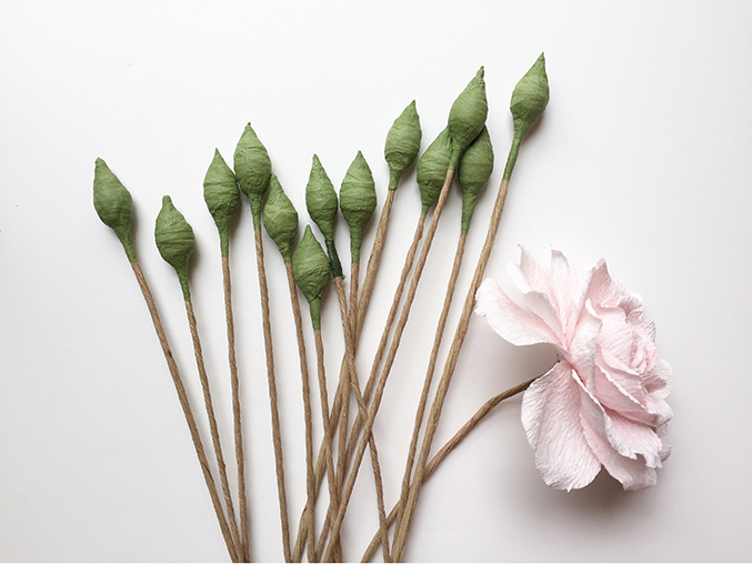Rose de Granville paper flower workshop