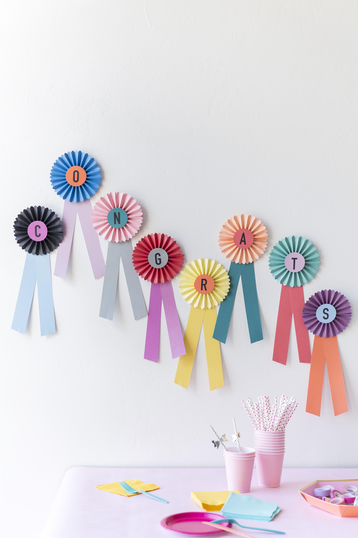 Paper prize ribbon DIY