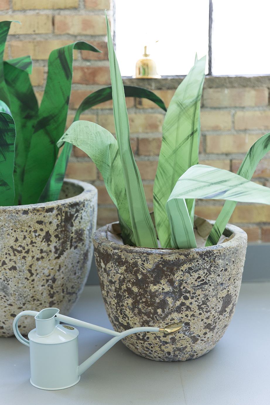 Paper potted plants