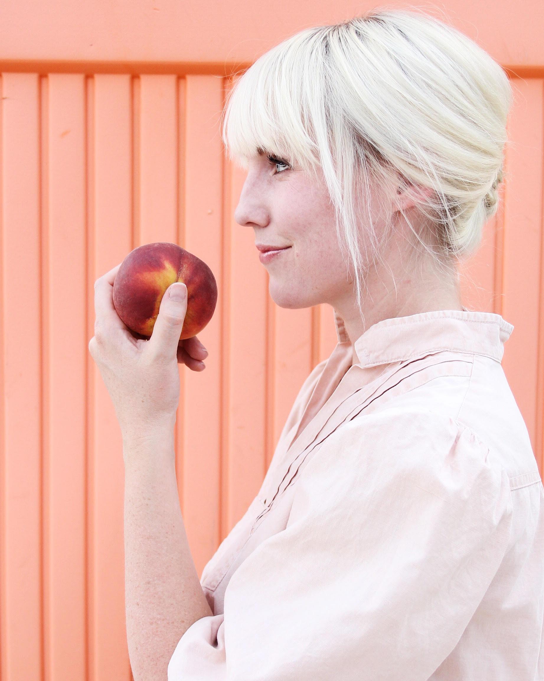 Dress the rainbow peach