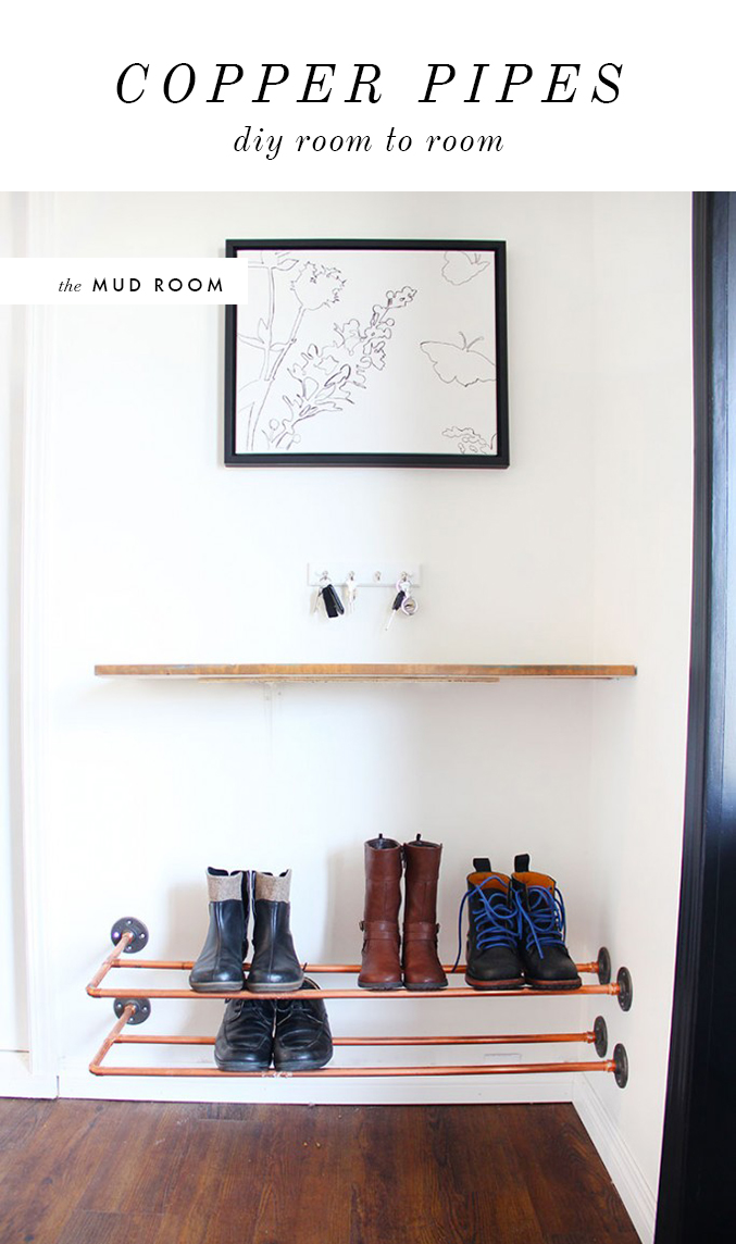 COPPER-PIPE-SHOE-RACK