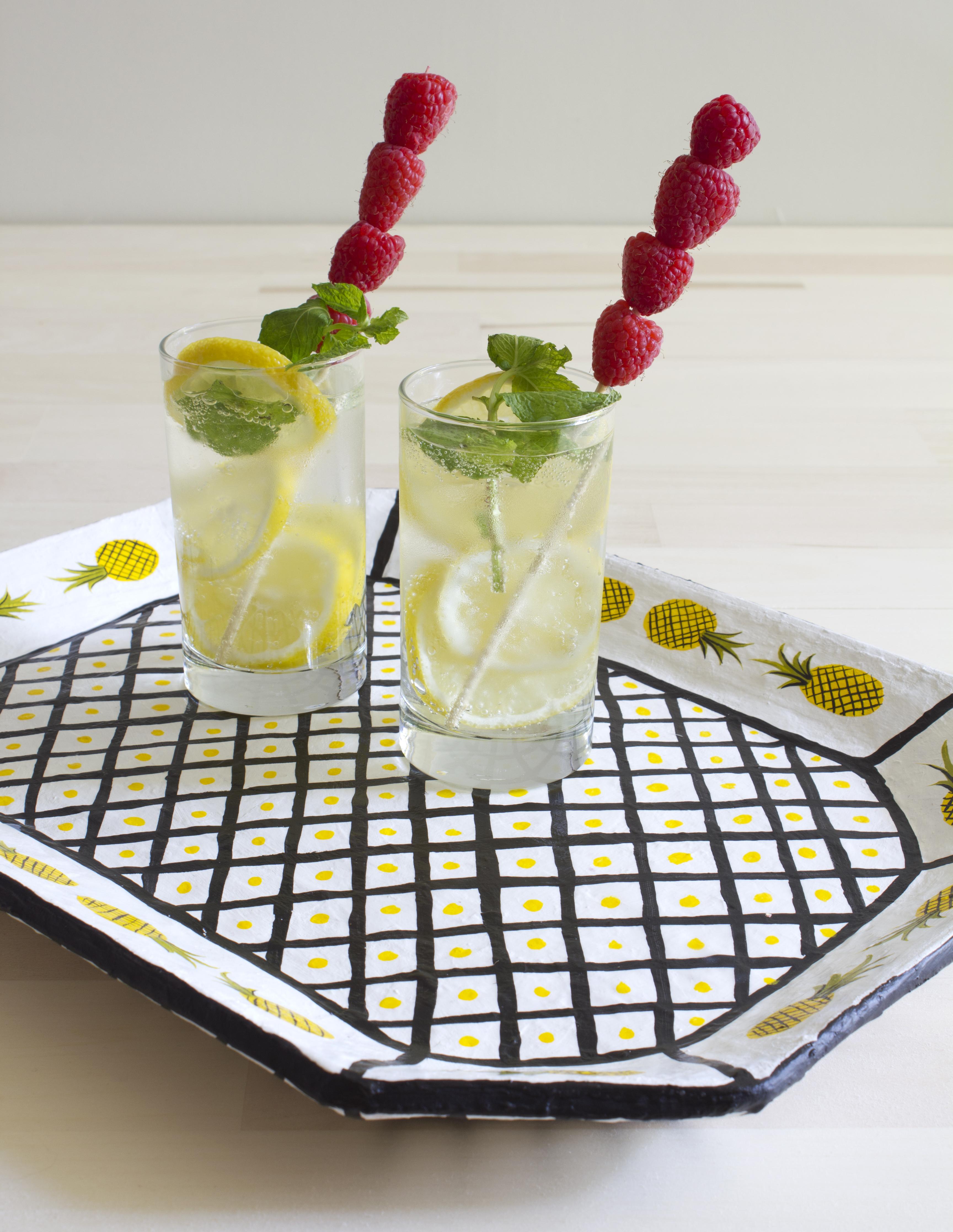Paper mache pineapple tray