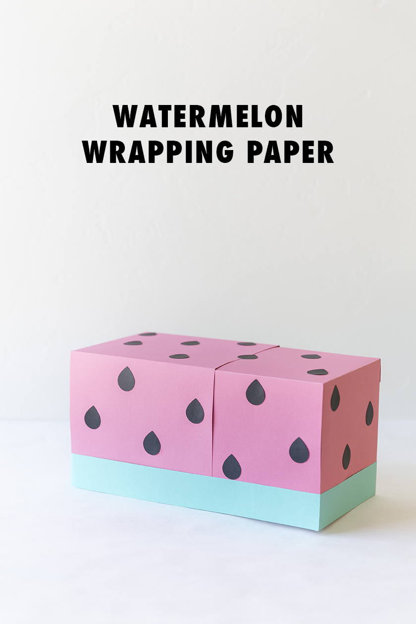 Turn your wrapping paper into a watermelon!
