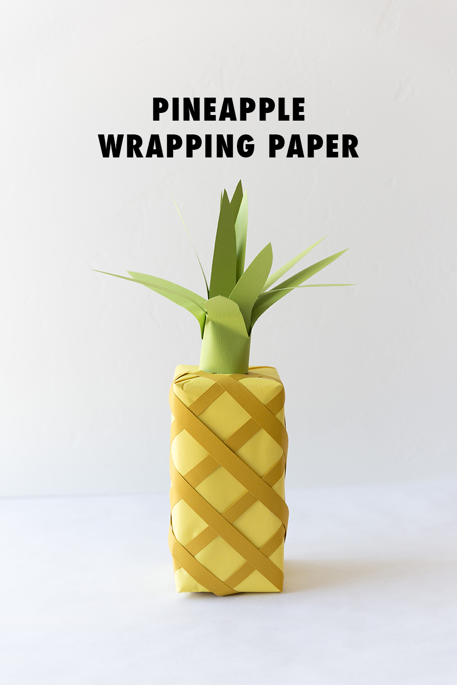 Turn your wrapping paper into a pineapple!