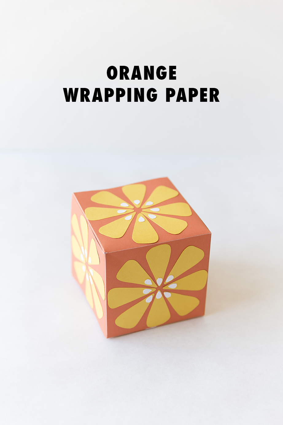 Turn your wrapping paper into an orange!
