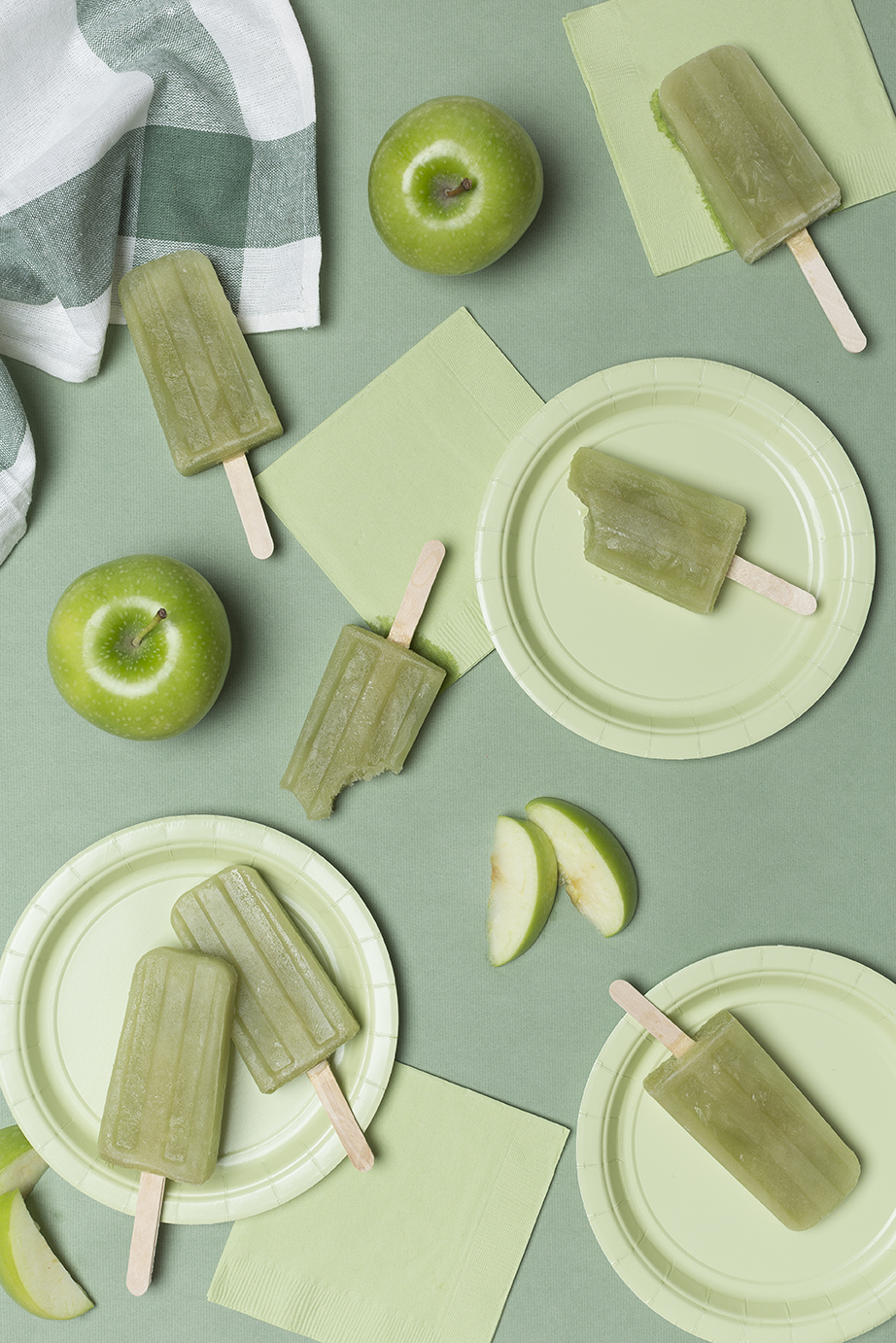Green apple popsicle