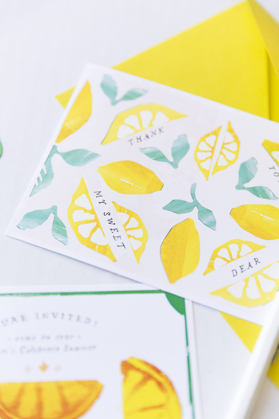 Lemon stationery printable