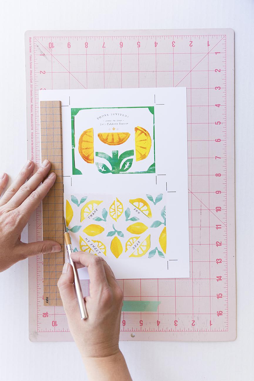 Lemon stationery printable