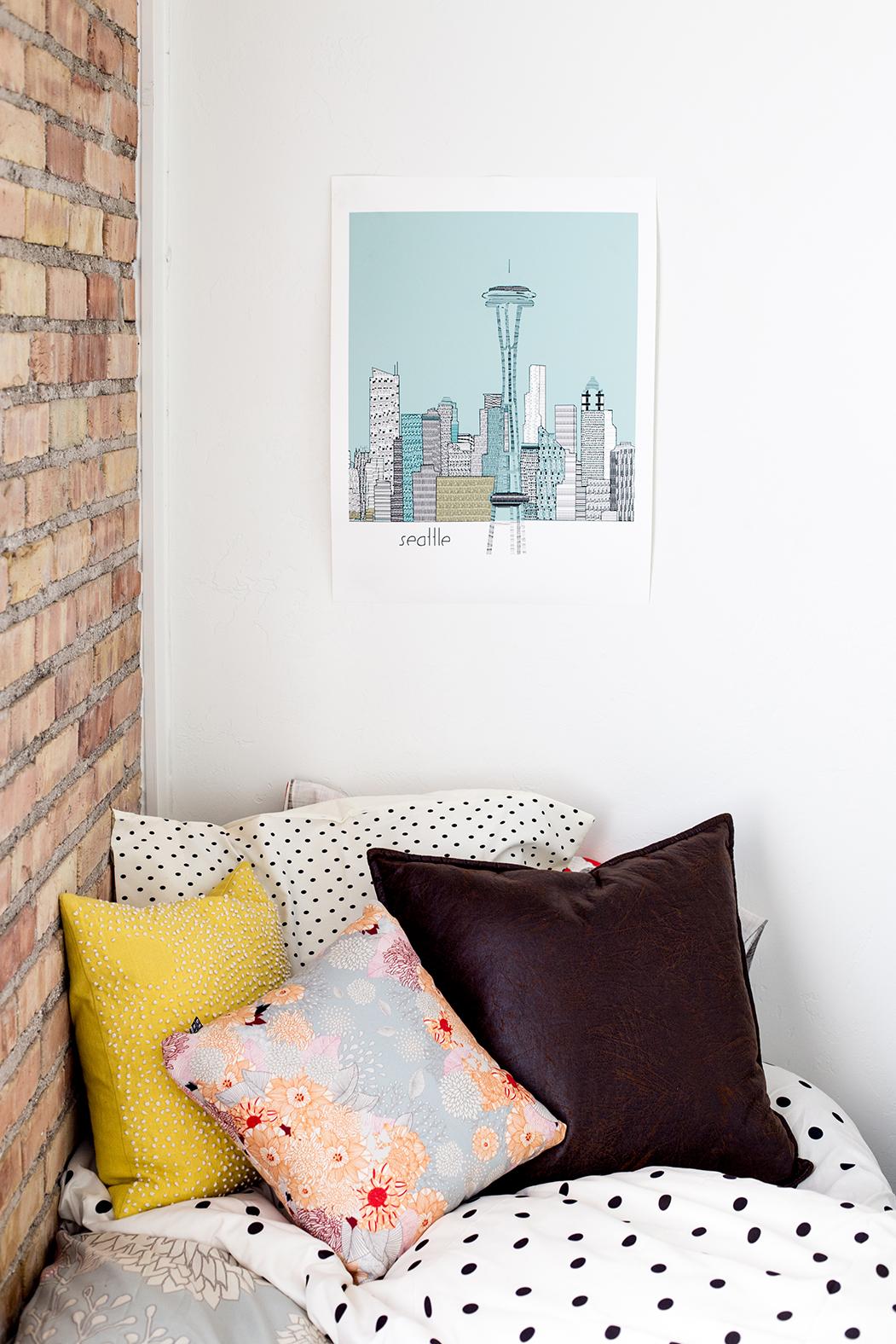 Dorm room makeover with Deny Designs