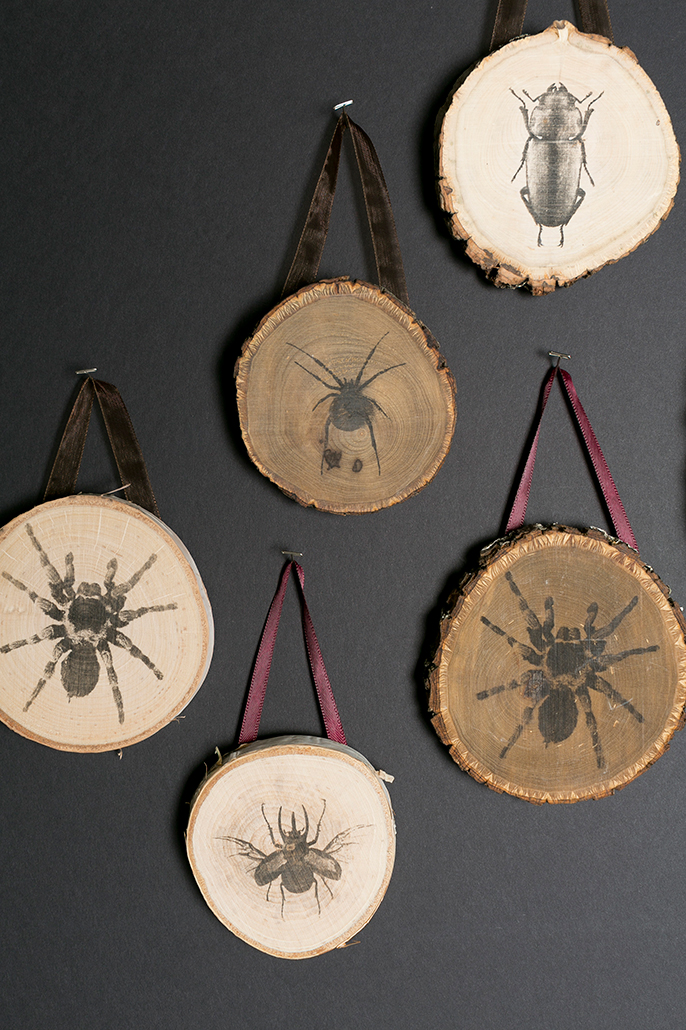 Spooky Transfer Wood Plaques for DIY Halloween Art