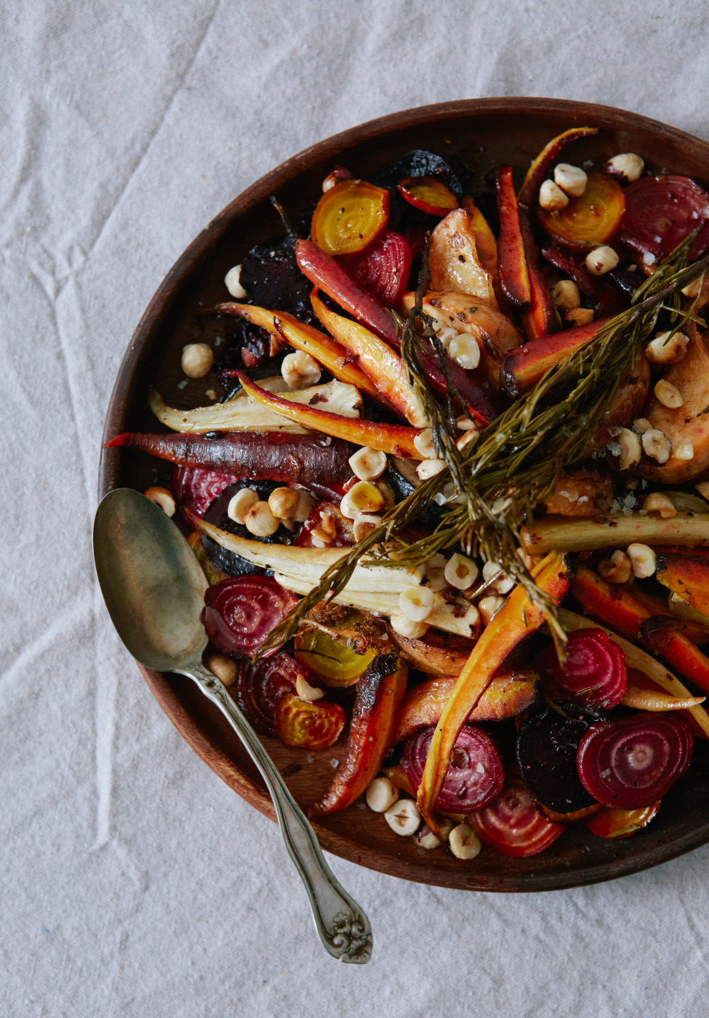 Autumnal Roasted Root vegetables with Orange Vinaigrette