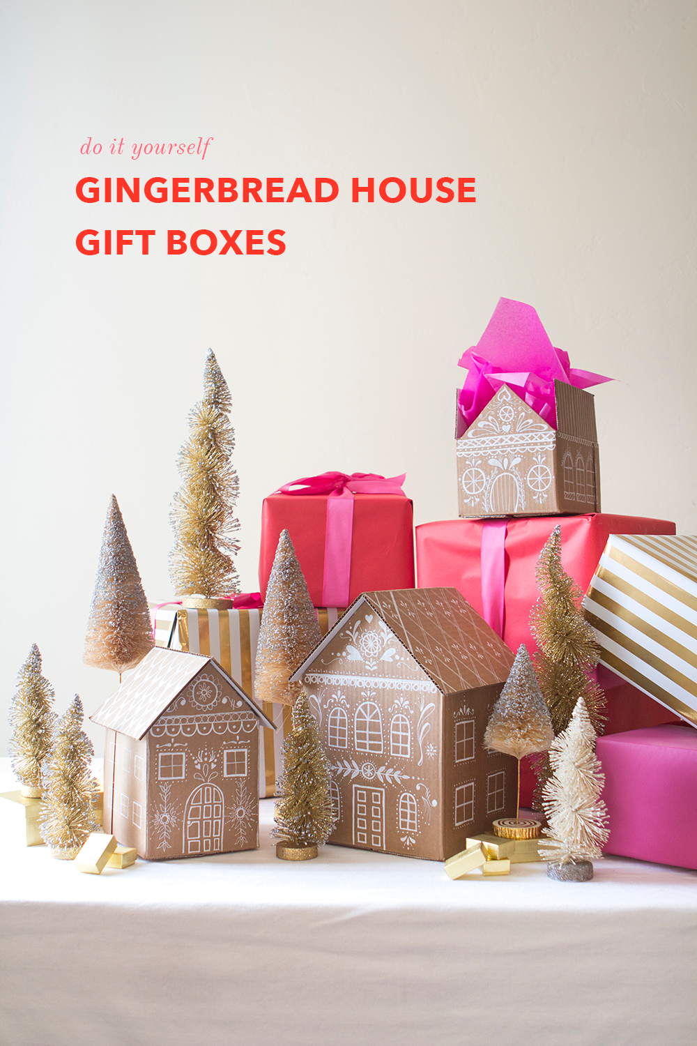 DIY gingerbread gift box