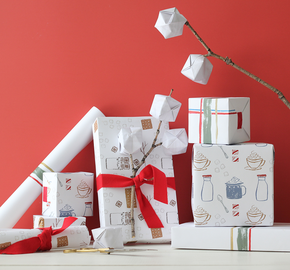 Holiday wrapping paper printables