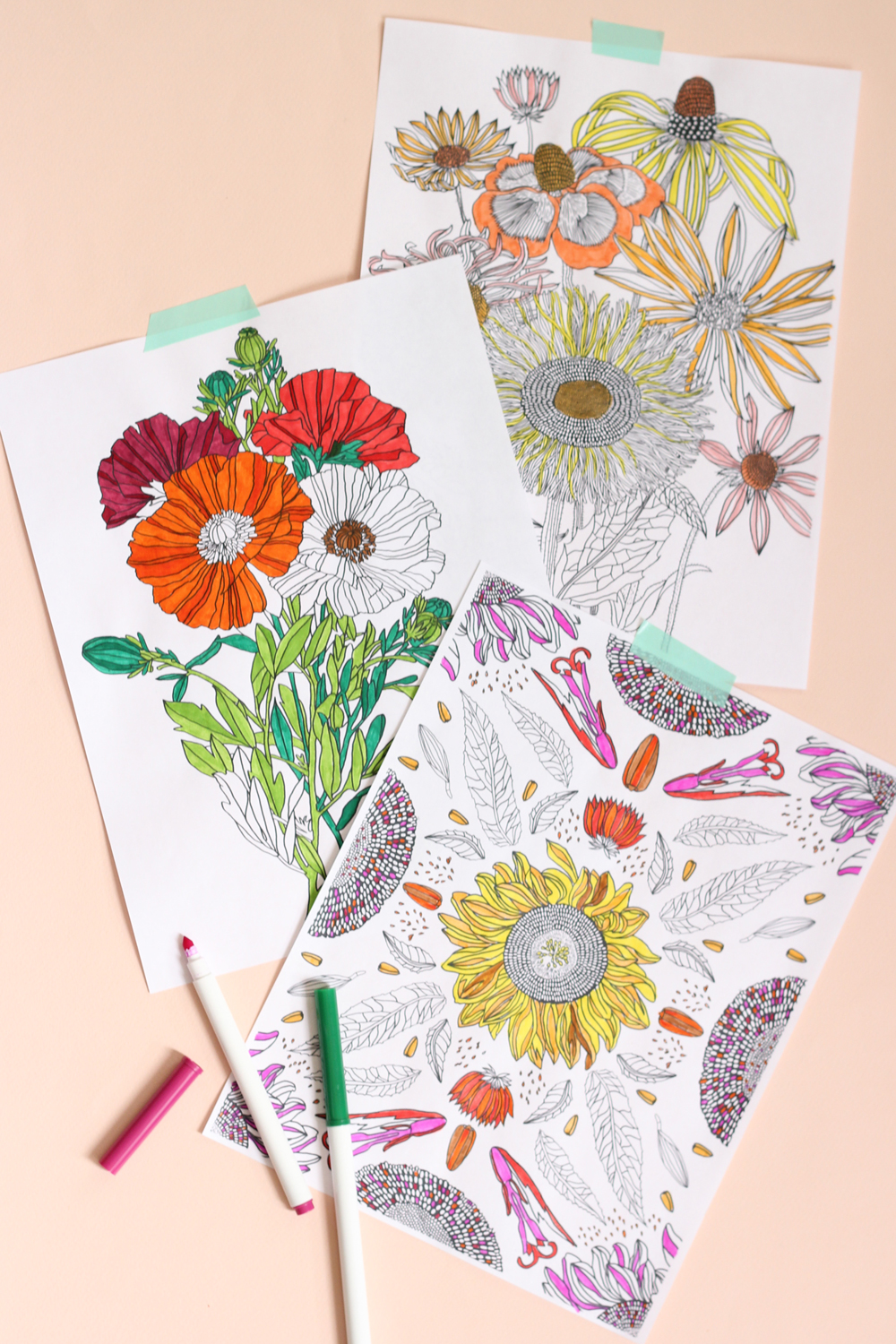 Flowers Coloring Book by The House That Lars Built