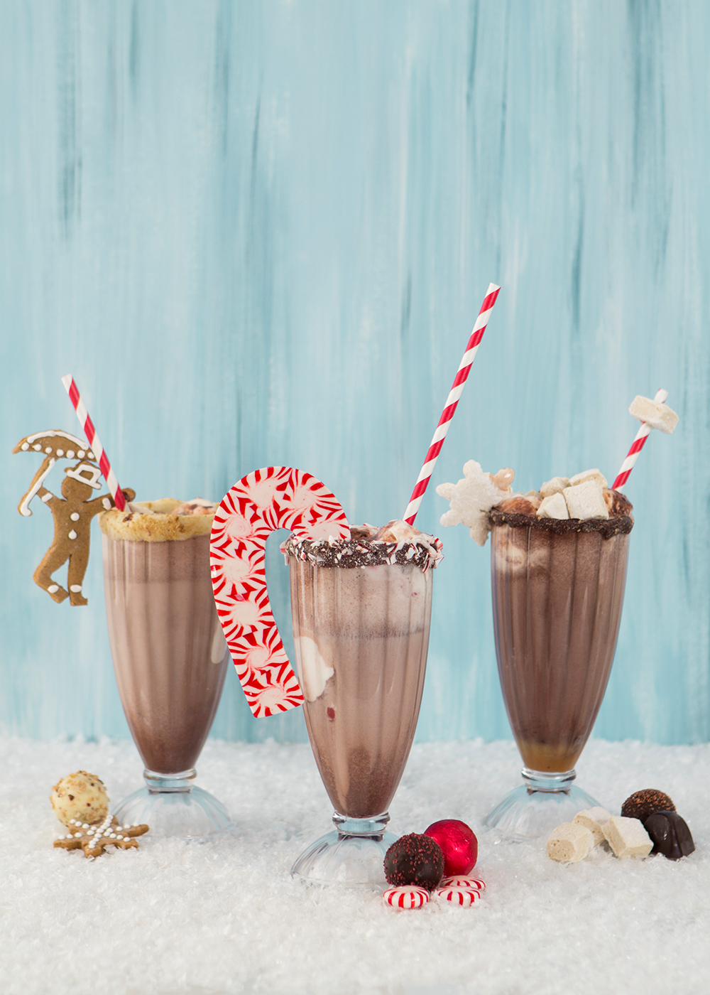 3 Hot chocolate sundaes with Godiva