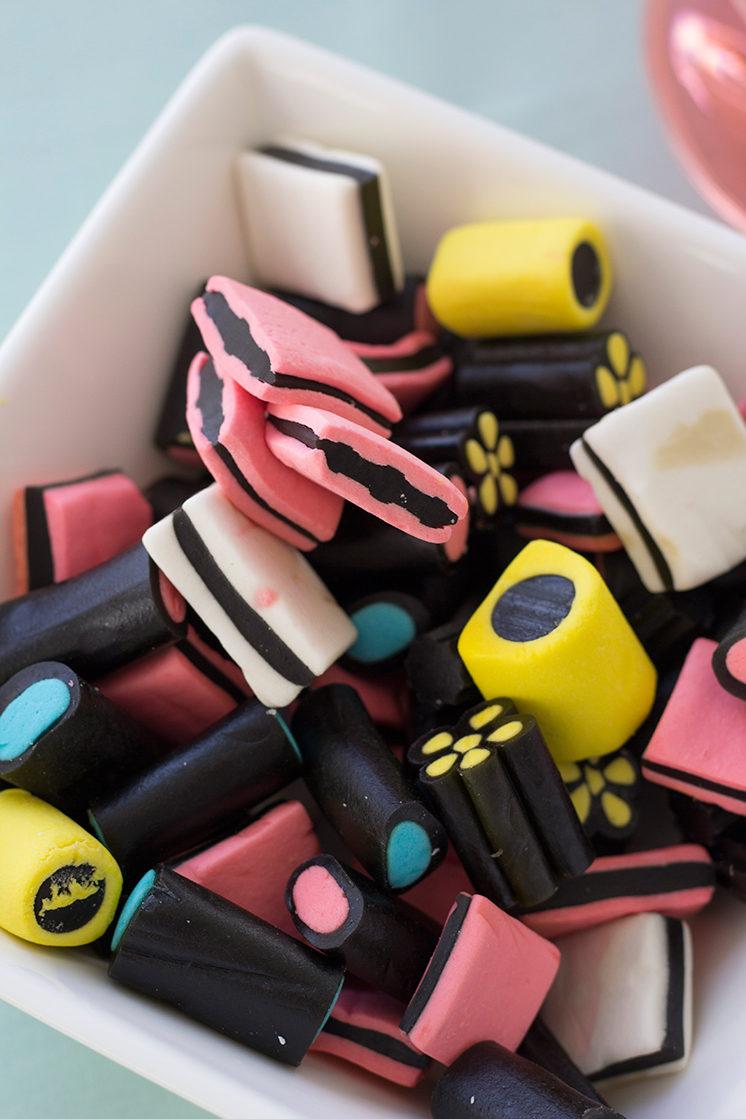 Licorice All Sorts party with Fortessa and Williams Sonoma