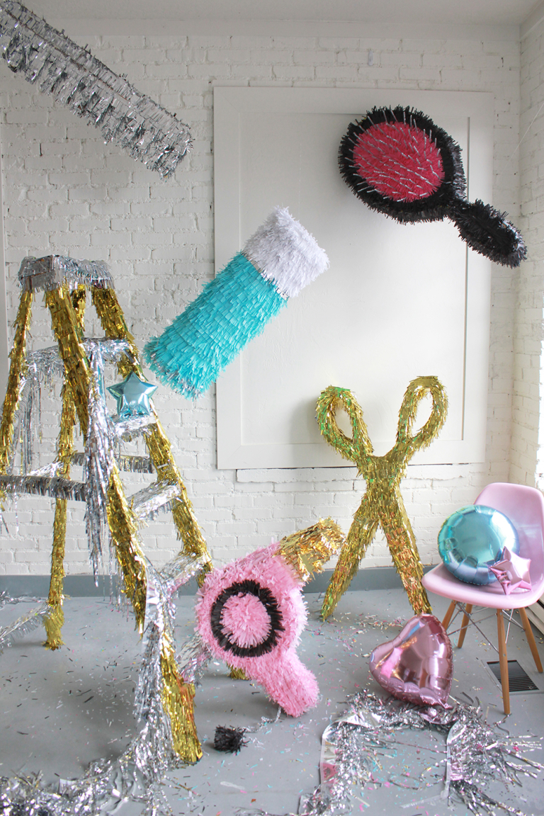 DIY hair pinatas