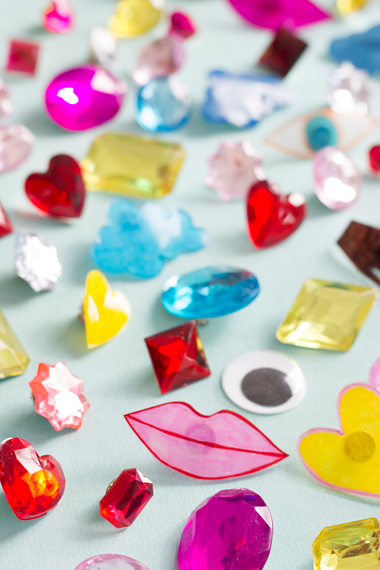 Shrinky Dink Valentine's Day pins