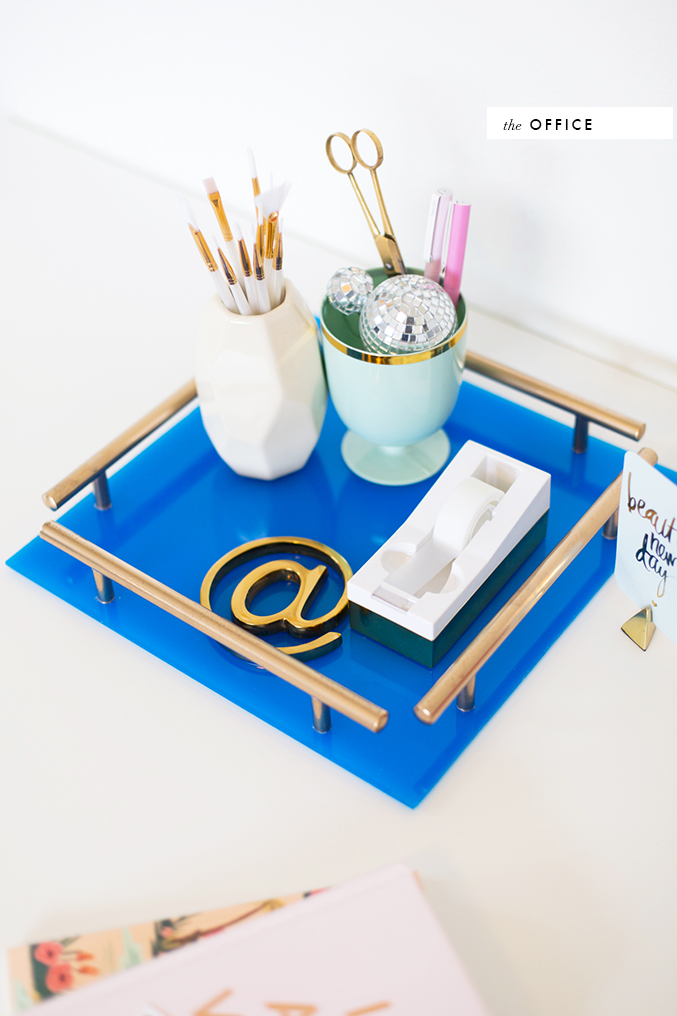 DIY gold bar acrylic tray