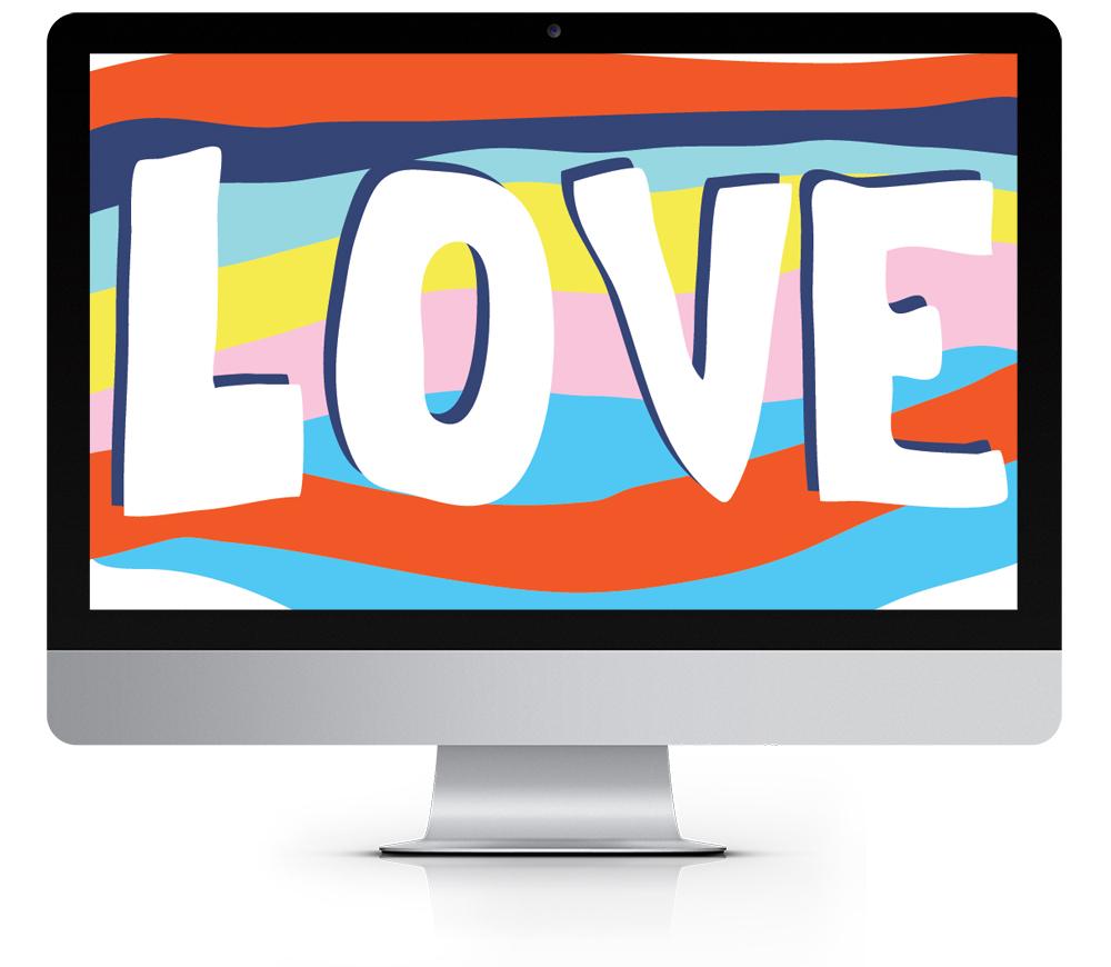 Salvation Mountain Valentine's Day desktop wallpaper