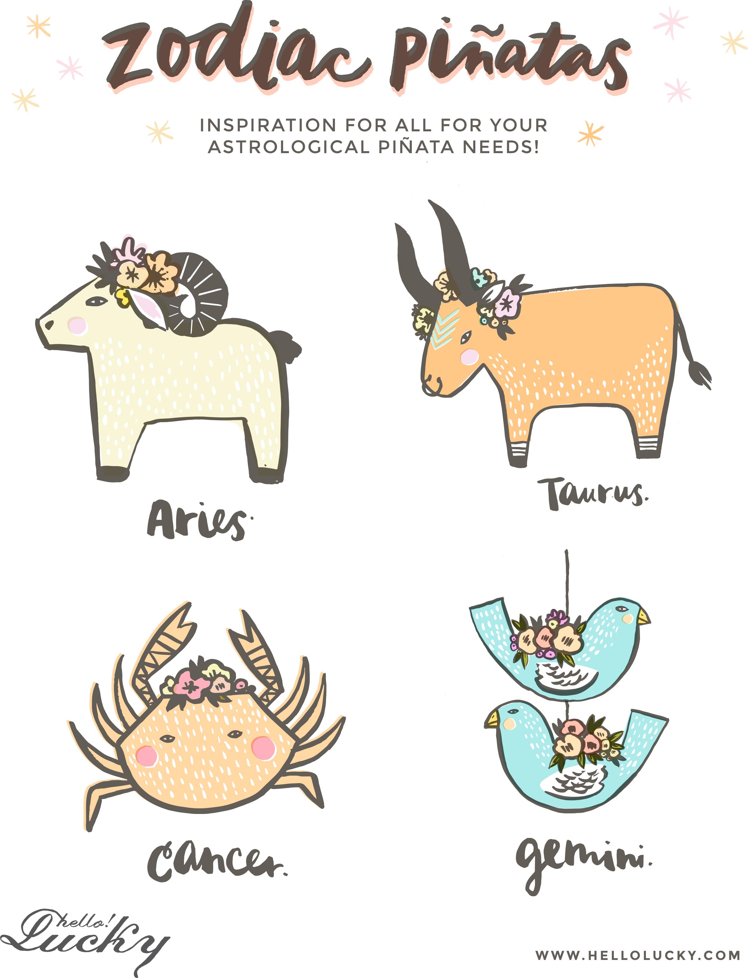 Zodiac pinata inspiration