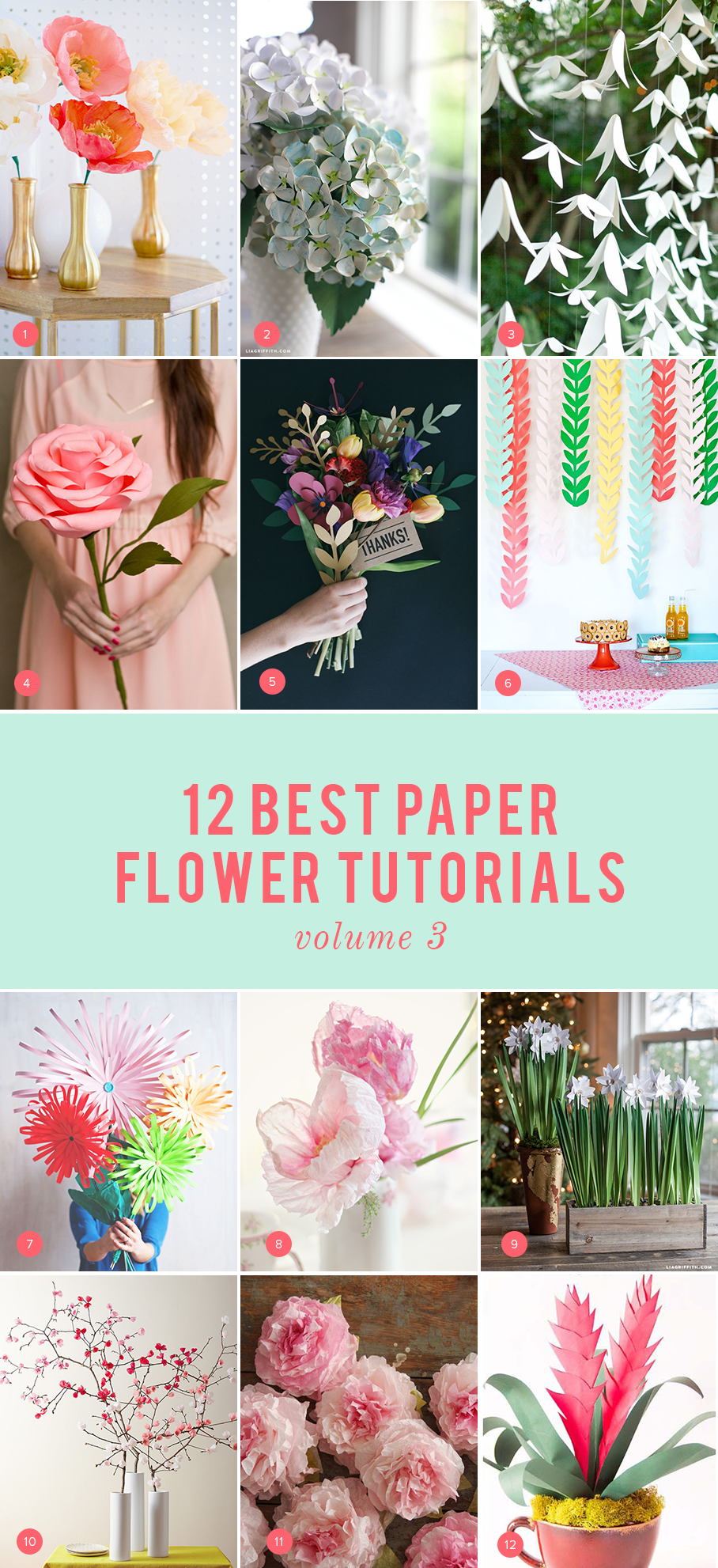 12 best paper flowers volume 3