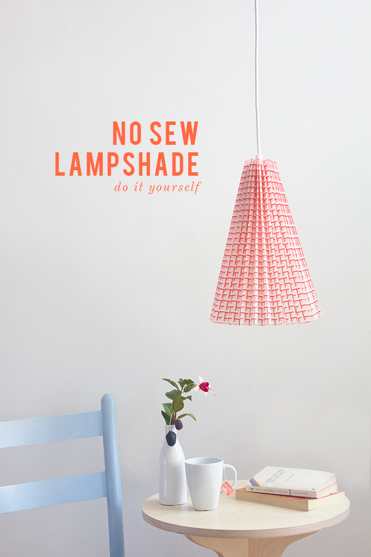 DIY no sew fabric lamp