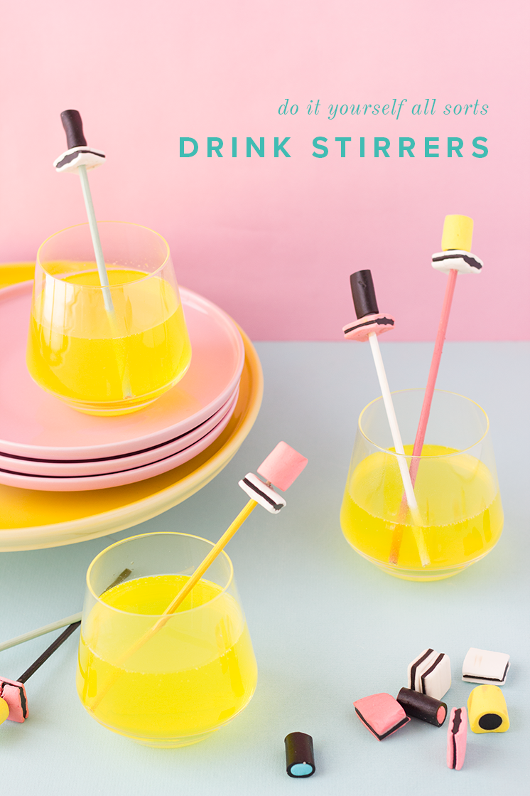 Drink stirrers made from all sorts