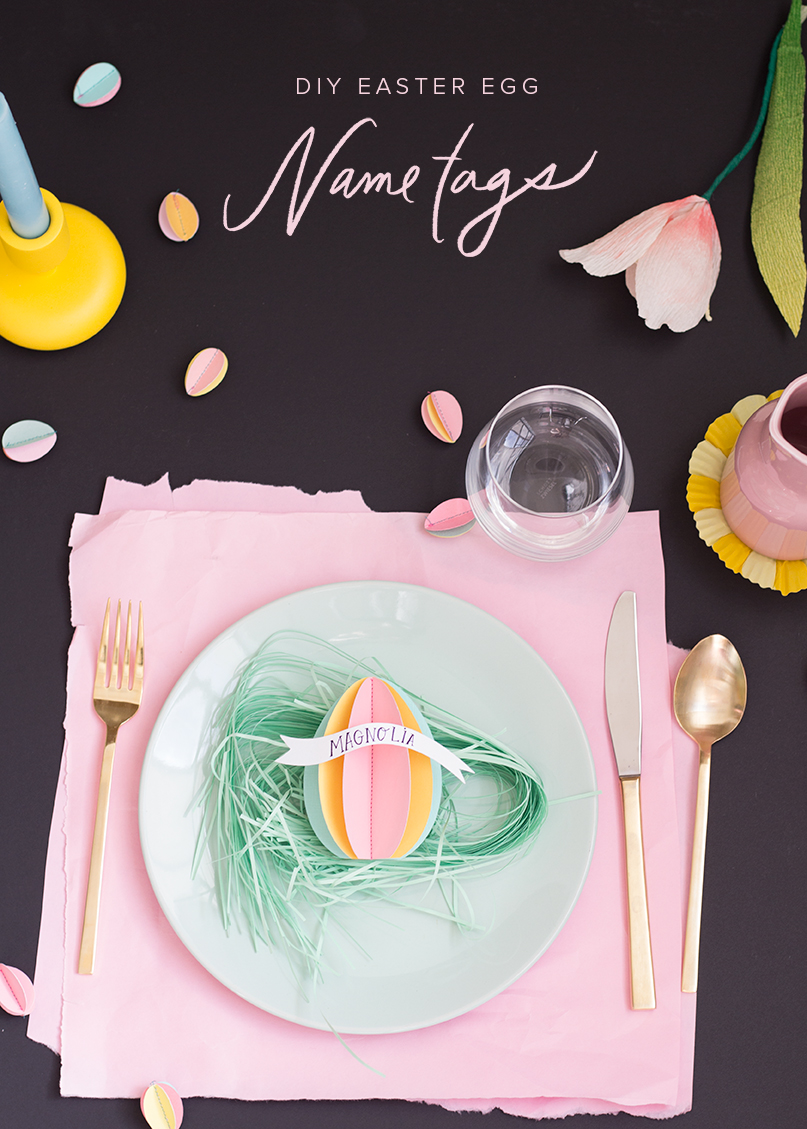 3D Easter Egg paper name tags