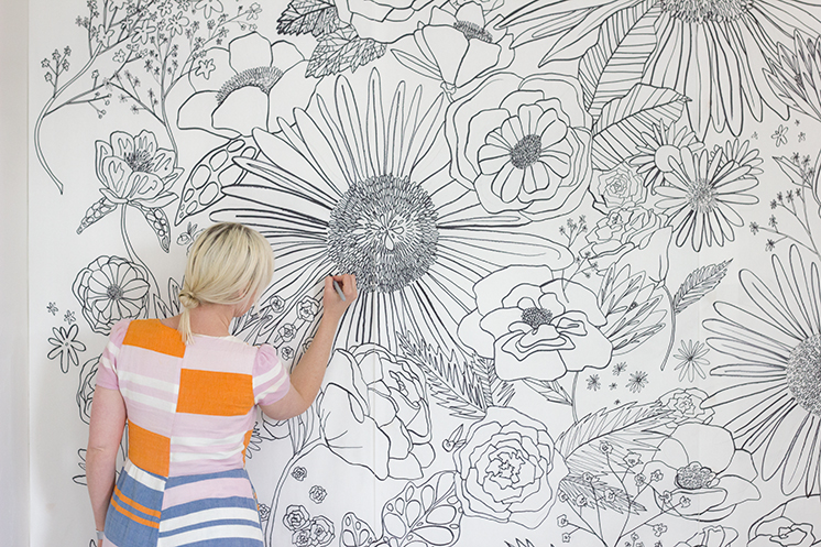 floral-mural-coloring-background