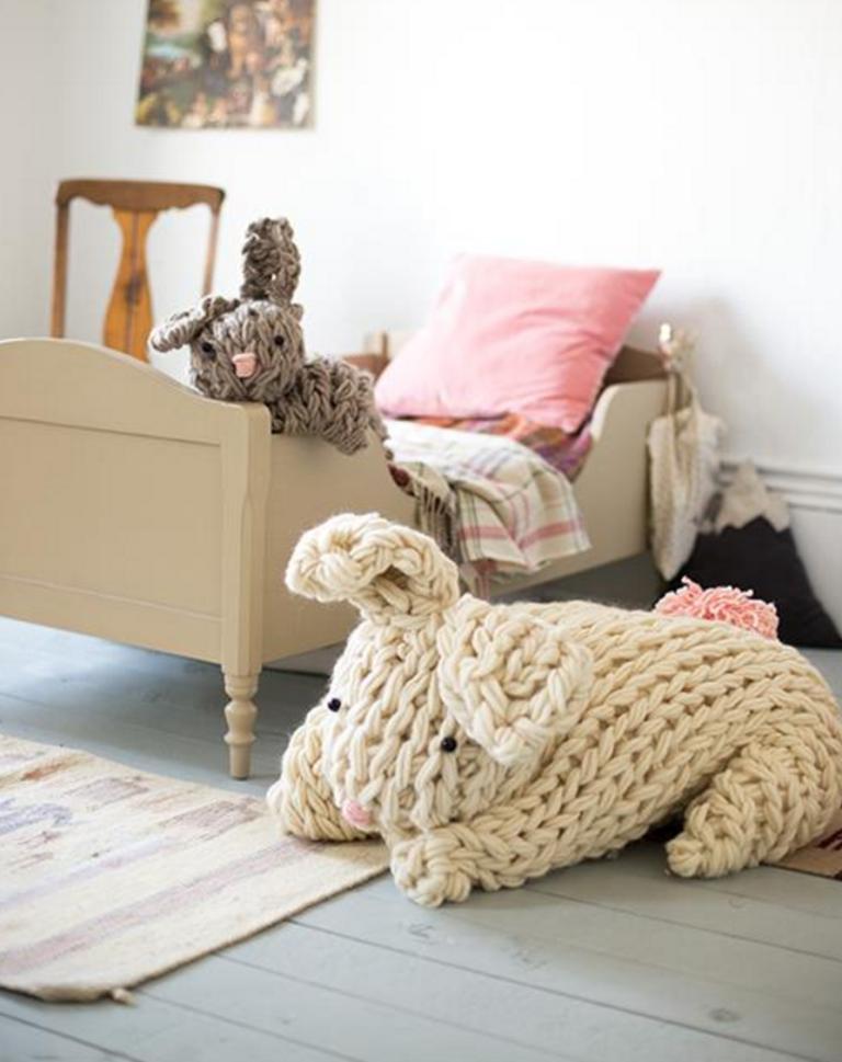 Giant Arm-Knit Bunny