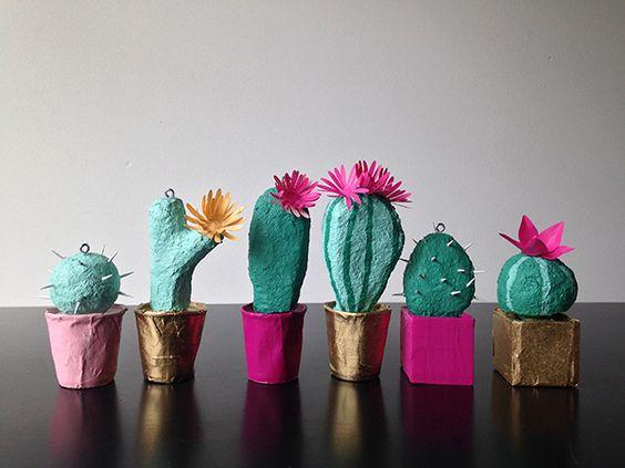 Papier mache cactus tutorial