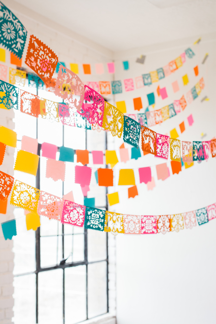 Papel Picado Colorful Mexican Paper Garland