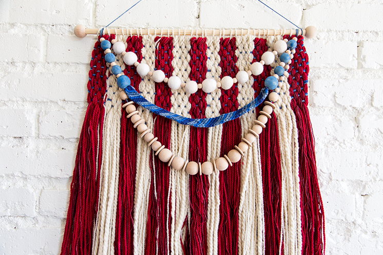 4th of July American flag wall weaving tutorial