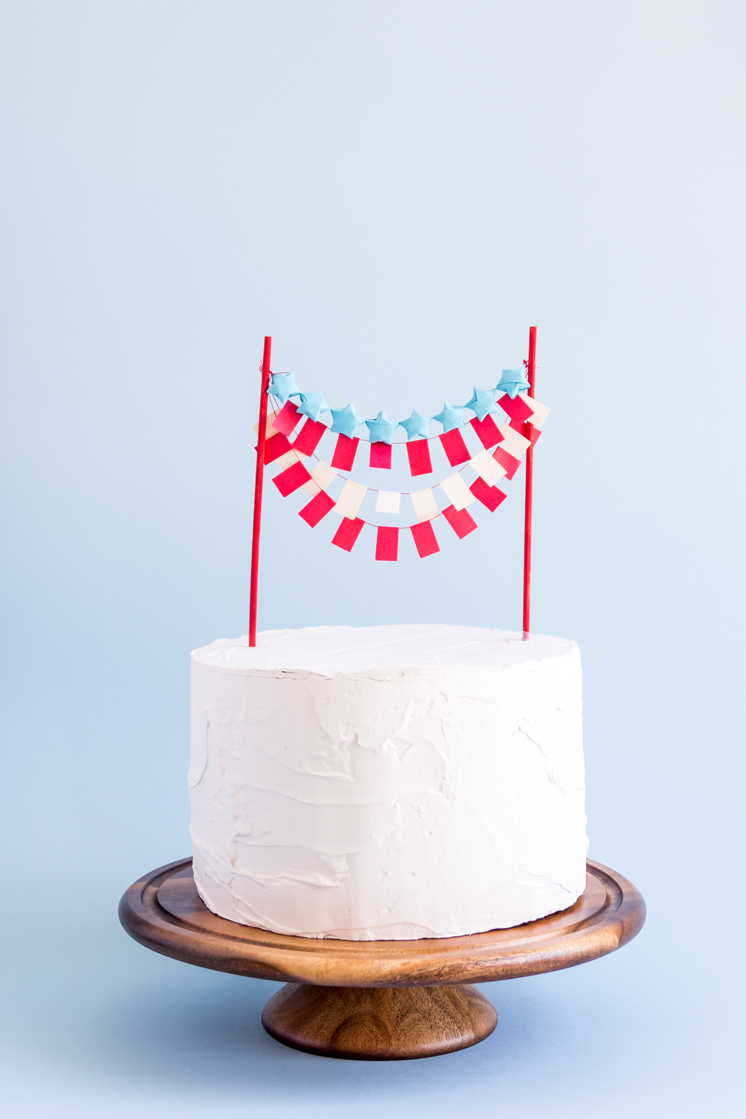 Cake topper for fourth of July