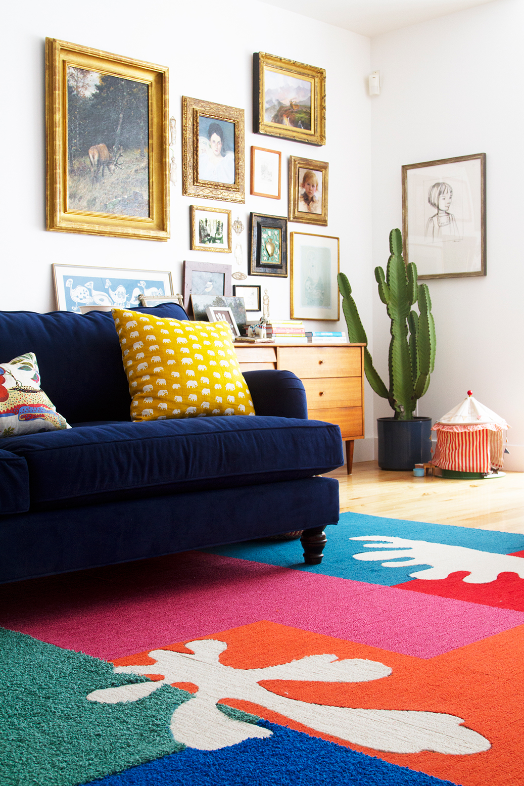 DIY Matisse-inspired cut out rug