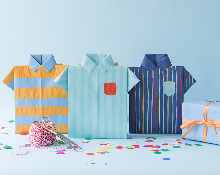 Father's Day origami shirt gift bags