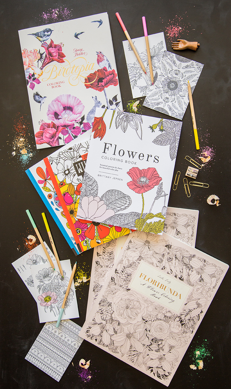 Pretty coloring book round up