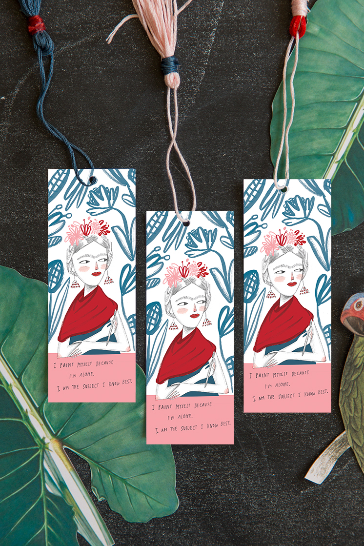 Lars Book Club check-in: Frida Kahlo print & bookmark