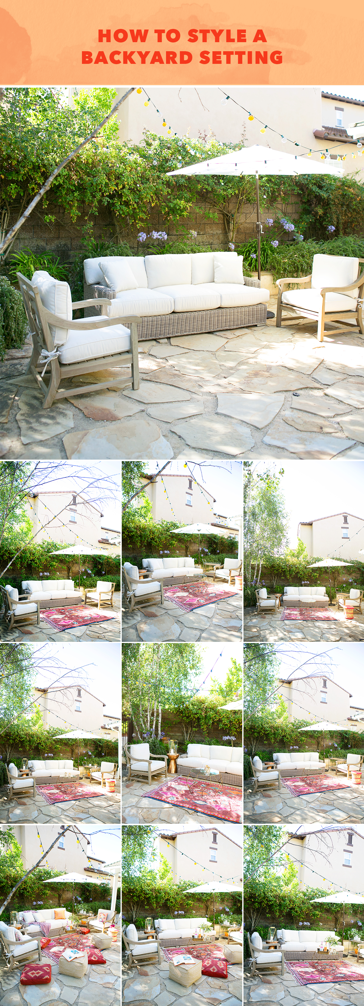 How to style a backyard setting