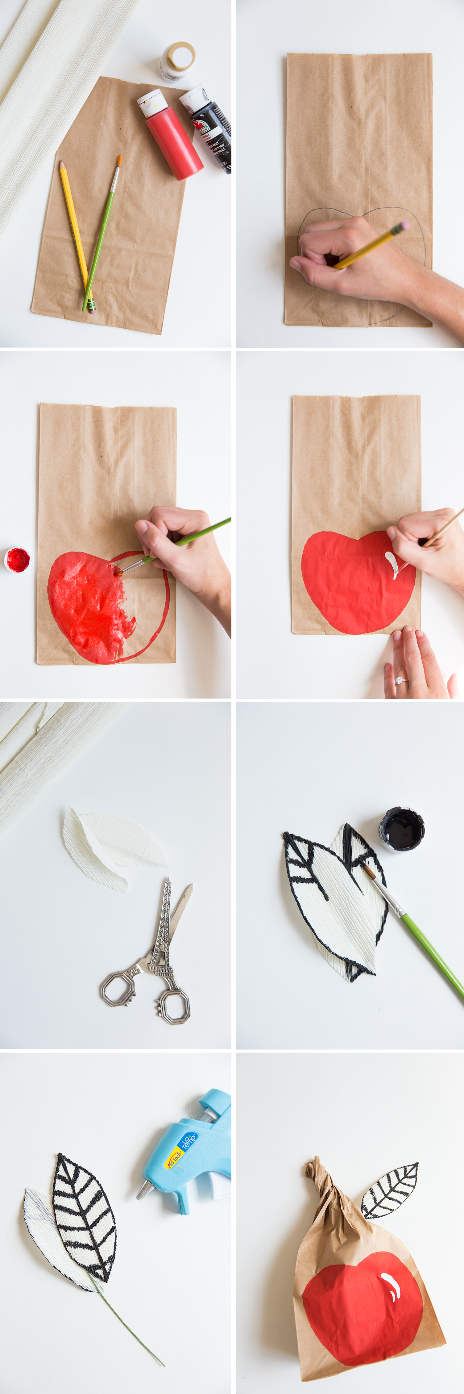 DIY apple lunch sack
