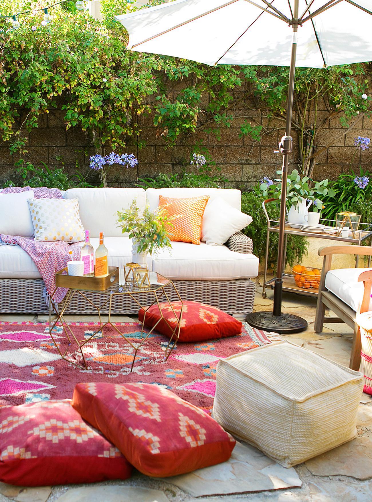Arhaus outdoor sofa