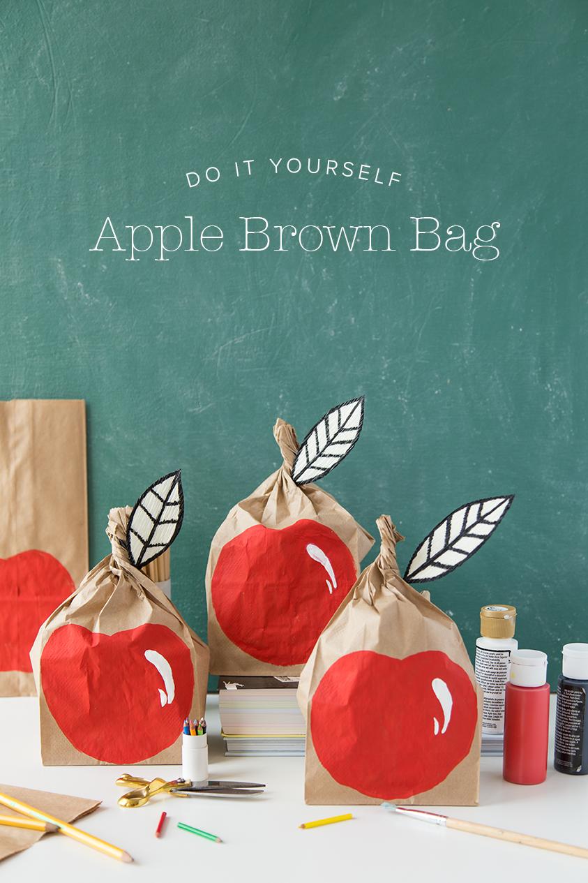 DIY apple lunch sack