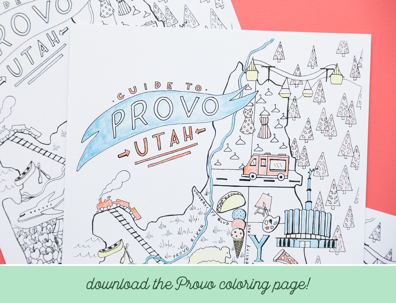 Provo guide and coloring page