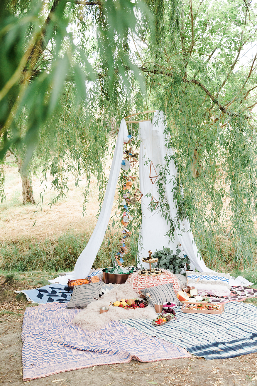 Boho Tent With Crate And Barrel Copper Collection The House That Lars Built