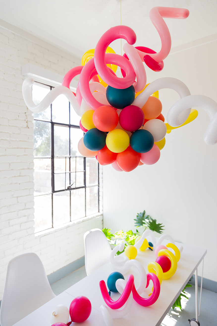 balloon chandelier for a party