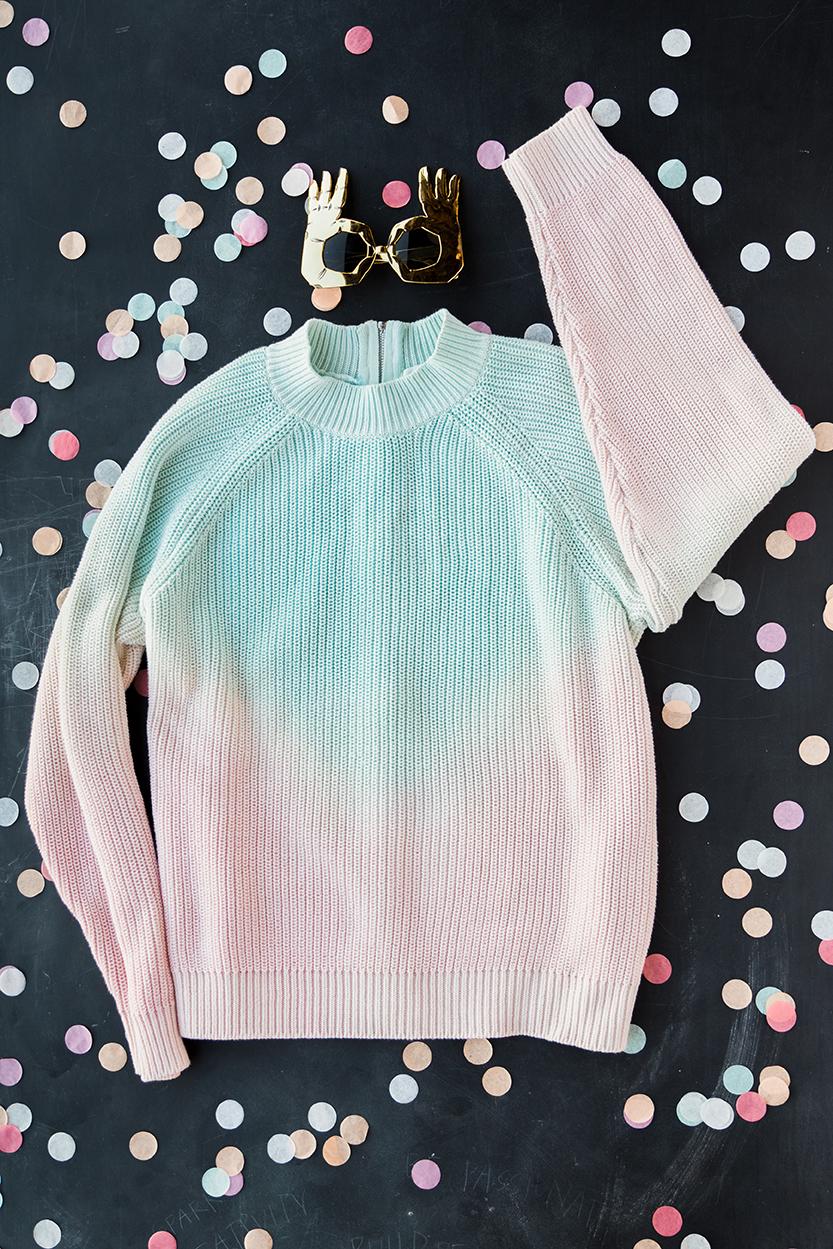 dip dye sweaters tutorial