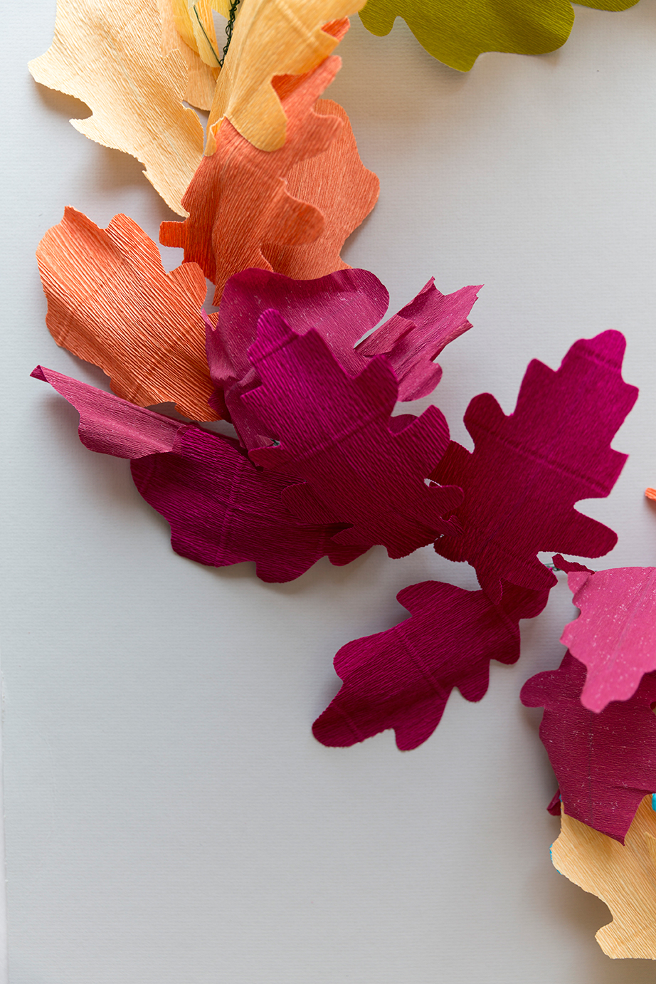 DIY paper fall garland